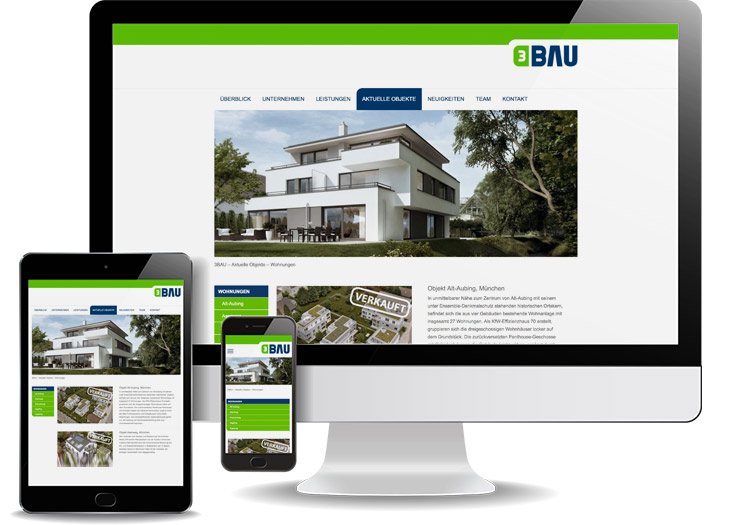 Webdesign für Immobilienfirma